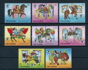 [22357] Gambia 1989 Disney Mickey Mouse Donald Duck Carousel Animals Horses MNH