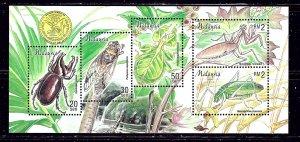 Malaysia 681 MNH 1998 Insects sheet    (ap2015)