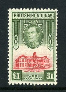 British Honduras 1938 KGVI $1 Court House SG 159 mint
