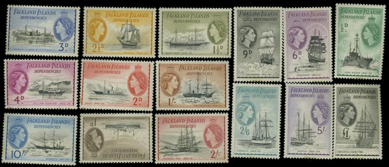 Falkland Islands #1L19-33 MINT VF OG LH Cat$240.75
