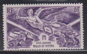 WALLIS & FUTUNA ISLANDS  Scott # C1 MH - Airmail Victory Issue