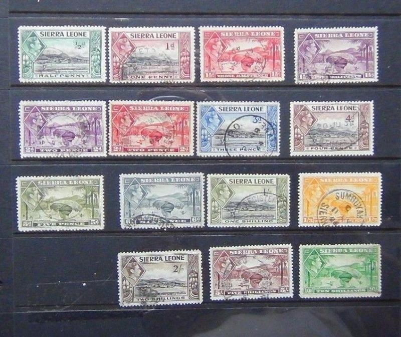 Sierra Leone 1938 - 44 valeurs to 10s D'occasion