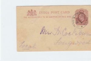 india donnington 1912  stamps card   ref r14867