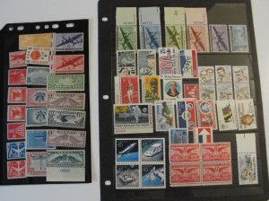 US Airmail Stock Pages Lot 2 MNH & MH OG