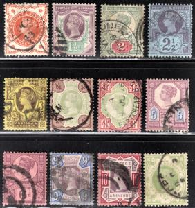 Great Britain Scott 111-122  complete set  F to VF used.