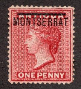 Sc1 - Queen Victoria - 1 Penny - Montserrat - 1876 - Used - superfleas - cv$19