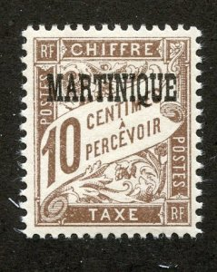 Martinique, Scott #J16, Mint, Never Hinged