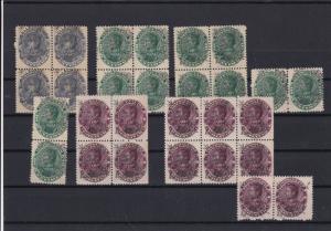 Venezuela Mint Never Hinged 1893 Schools Tax Stamps Blocks ref 22551