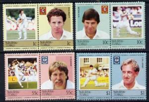Tuvalu - Nukufetau 1985 Cricketers (Leaders of the World)...