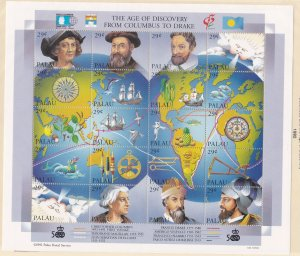 Palau # 302, Columbus & The Age of Discovery. NH, 1/2 Cat.