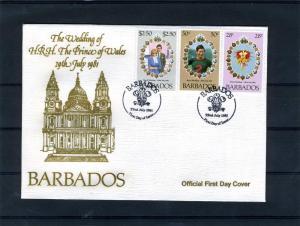 FDC Barbados Charles & Diana Royal Wedding