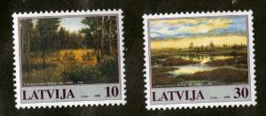 LATIVIA 464-5 MNH SCV $1.90 BIN $1.00