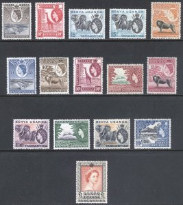KUT 1954 5c-£1 QEII Pictorial SG 167-180 Scott 103-117 LMM/MLH Cat £120($155)