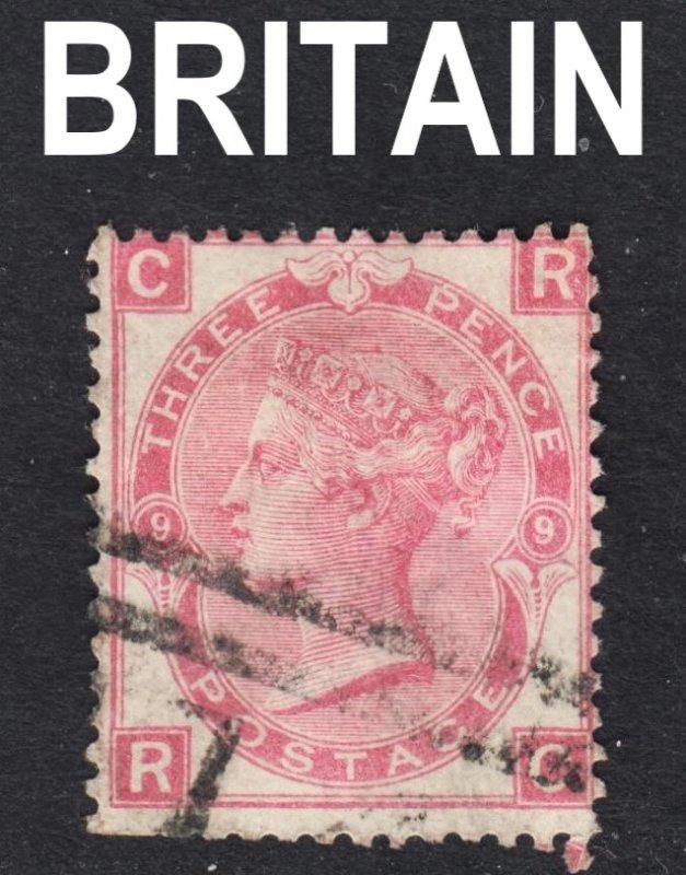 Great Britain Scott 49  plate 9  Fine used.