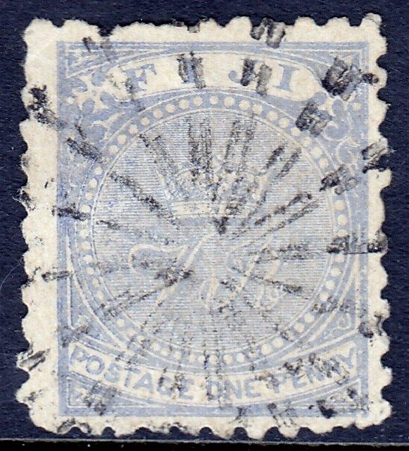 Fiji - Scott #40 - Used - Two pulled perfs - SCV $14.50