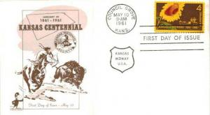 United States, First Day Cover, Kansas