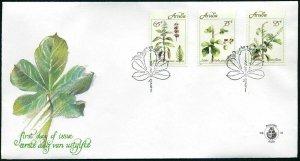 Aruba 70-72,FDC.Michel 92-94. Medicinal Plants 1991.