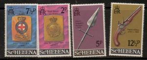 ST.HELENA SG285/8 1972 MILITARY EQUIPMENT MNH