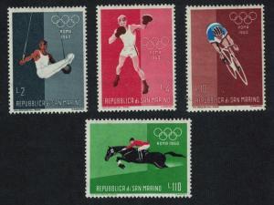 San Marino Boxing Cycling Horse Jumping Gymnastics Olympic Games 1960 4v