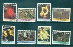 Panama - Sc# 710-7. 1987 Birds, Flowers. MNH $5.40.