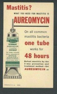 Ca 1953 Veterinary Medicine Aureomycin For Udder & Mastitis Pain By Lederle