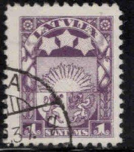 Latvia Scott 135 Used coat of arms stamp