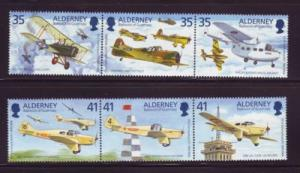Alderney Sc 88-9 1995 Flt Lt Jones airplane stamps mint NH