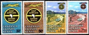 13th East African Safari Rally, Kenya, Uganda & Tanzania SC#148-151 MNH set