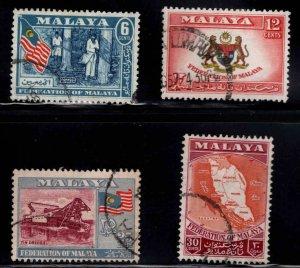 MALAYA Federation stamp set Scott 80-83 Used