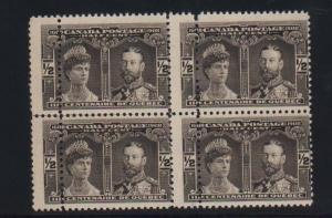 Canada #96 Mint Double Perf Variety Block