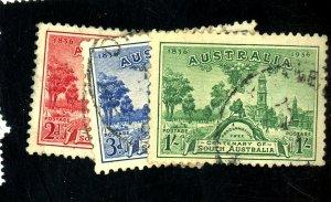 AUSTRALIA 163-165 USED FVF Cat $15