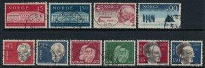 Norway #395-404  CV $7.80