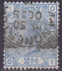 Great Britain #68 Plate 19 F-VF Used  CV $65..00 (Z4518)