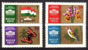 1961, Hungary, MNH set, Sc 1396-99