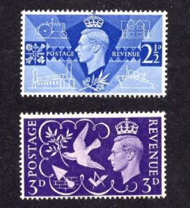 Great Britain  #264-265  1946  MNH return to peace