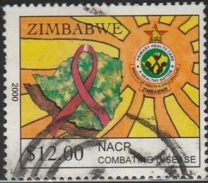 Zimbabwe, #868 Used From 2000