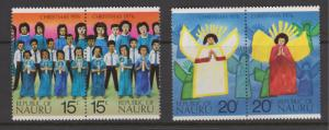 Nauru 1976 Christmas Set Sc#146-149 MNH Setenant Pairs