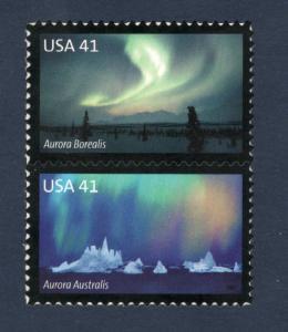 4203-04 Polar Lights Auroras Vertical Pair Mint/nh FREE SHIPPING