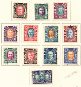 Lithuania Sc 116-19C 1922 Portraits stamp set used