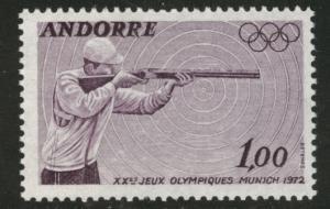 Andorra (French) Andorre Scott 213 MNH** Munich Olympic Rifle