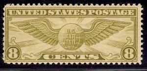 US Stamp #C17 8c Winged Globe MINT Hinged SCV $2.25
