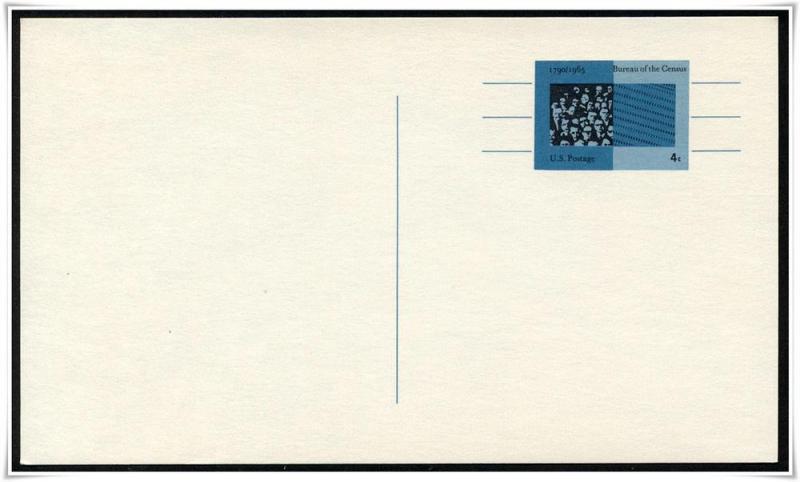 SC#UX53 4¢ Census Bureau Postal Card Mint