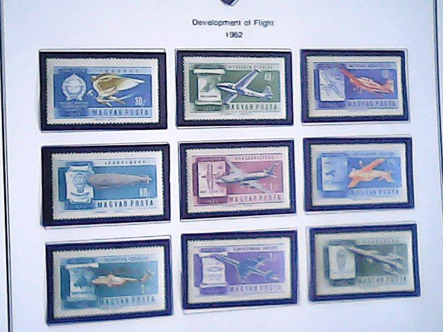 1962  Hungary  Air Post Stamps  MNH  full page auction