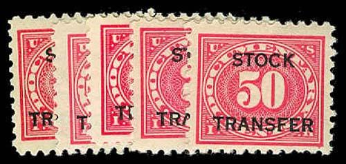 U.S. REV. STOCK TRANSFER RD25-29  Mint (ID # 71868)