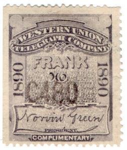 (I.B) USA Telegraphs : Western Union (1890)