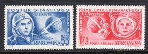Romania C142-C143 Space MNH VF