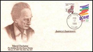 US America's Immigrants Marcel Duchamp 1989 Cover