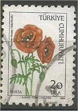 TURKEY, 1985, used 20 l, Wild Flowers Scott 2283