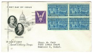 Scott E17 1944 13c Special Delivery First Day Cover Cat $15