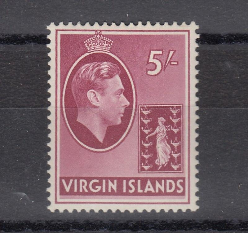 British Virgin Islands KGVI 1938 5/- Chalky Paper SG119 MLH J2327